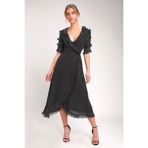 🆕City View Black Floral Print Ruffled Maxi Dress